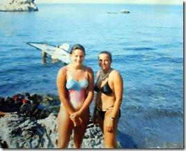 Winsurfing in Cefalu, Sicily 1986