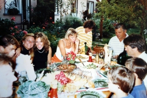 Dinner with friends in Germany 1986