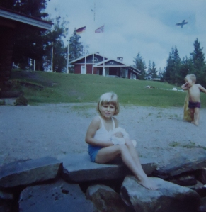 Visiting family in Finland 1974