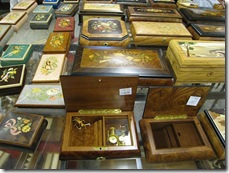 Inlaid wood boxes