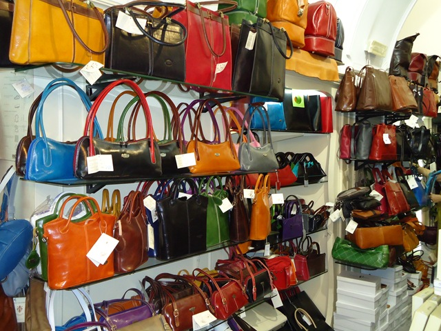 Italian leather handbags sorrento