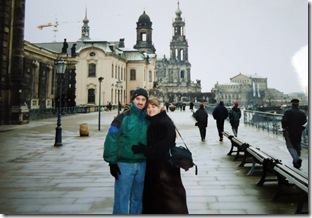Visiting my family in Dresden with my Husband 2000