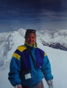 Skiing in Obersdorf, Germany 1988