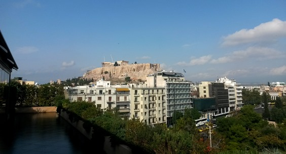 Acropolis from Royal Olympic Hotel Roof